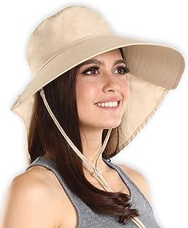 Sombrero de sol para mujer con protección UV, bloquea el 95% + de los rayos UV, plegable y elegante, sombreros de verano con borde ancho. Perfecto para viajes en la playa, senderismo, camping, barco y aventuras al aire última intervensión