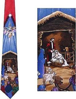 Nativity Scene Tie Mens Manger Neckties by Mumusung