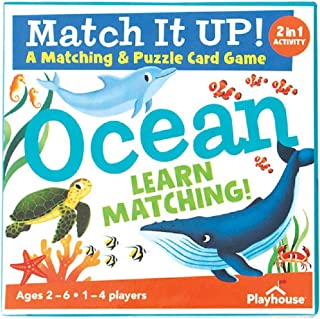 Playhouse Match it UP! Ocean Matching and Puzzle Card Game for Kids