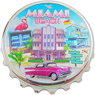 Westman Works Miami Beach Bottle Opener Magnet Metal Souvenir of Florida, 4 Inch