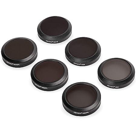 Tiffen Camera Lens Filters for DJI Mavic 2 Zoom Drone Camera Neutral Density/Polarizer Filters, 6 Filter Kit