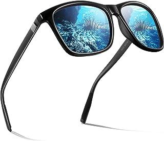 wearPro - Gafas de sol polarizadas para hombre (polarizadas, con efecto espejo) R-negro. Talla única