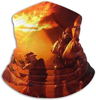 Fire Department Face Mask Dust Wind Neck Gaiter Bandana Headwear Face Scarf