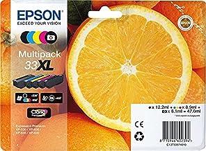 Epson C13T33574011- Cartucho de tinta para impresora, Multicolor, Paquete de 5, Ya disponible en Amazon Dash Replenishment
