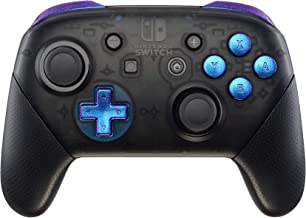 eXtremeRate Purple Blue Chameleon Repair ABXY D-pad ZR ZL L R Keys for Nintendo Switch Pro Controller, DIY Replacement Full Set Buttons with Tools for Nintendo Switch Pro - Controller NOT Included