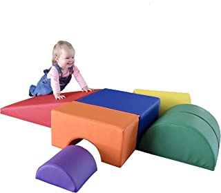 FDP SoftScape Playtime and Climb Multipurpose Soft Foam Playset with Foldable Seat for Infants and Toddlers; Crawling, Cli...