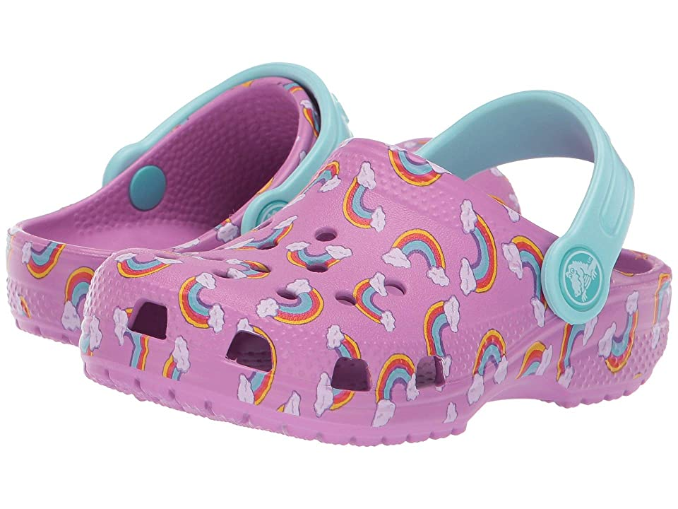 Crocs Kids Classic Seasonal Graphic Clog (Toddler/Little Kid) (Violet) Kids Shoes