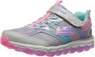 Skechers Kids Girls' Skech-Air Ultra-Glam IT up Sneaker,Silver/Multi, 3 M US Little Kid
