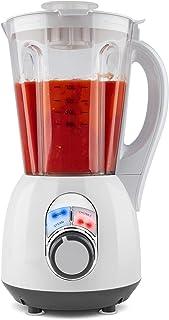 MEDION MD16411 Blender Chauffant-Appareil à Soupe, Blanc/Transparent