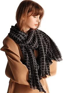Oversized Scottish Clan Tartan Plaid Cashmere Feel Shawl Wrap Winter Scarf for women