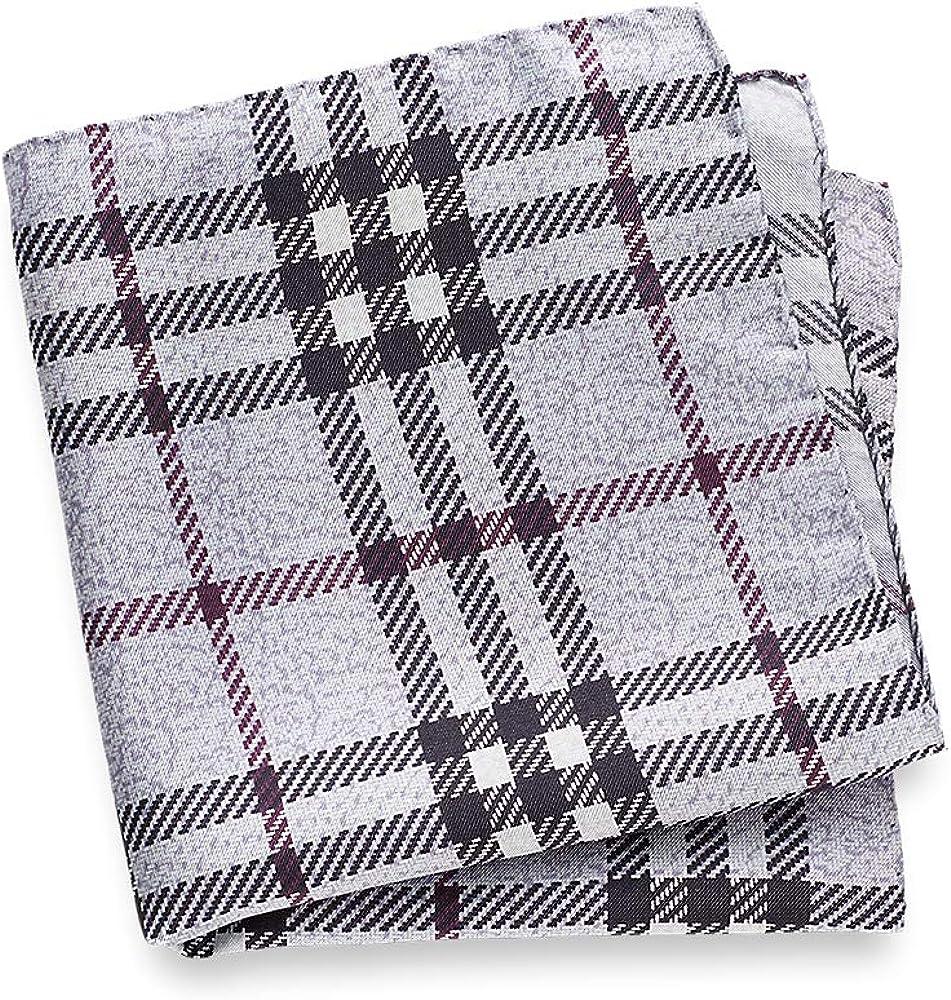 Paul Fredrick Men's Silk Plaid Pocket Square