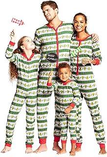 Familia Navidad Mono Pieza Pijamas - Navidad Impreso Mono Padre-Hijo Bodysuit Familia Pijama Ropa de casa