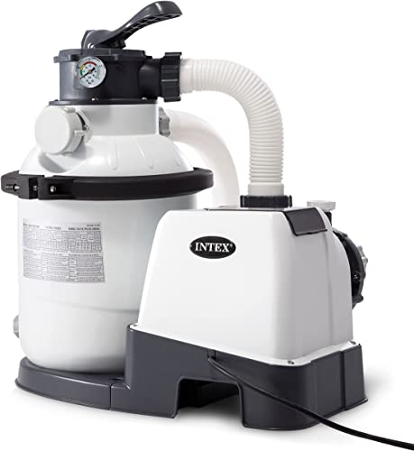 Intex 26643EG Krystal Clear Sand Filter Pump for Above Ground Pools, 10-inch