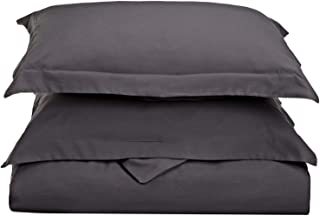 Sleep-Nest Luxuries 400 Thread Count Dark Grey/Elephant Grey Solid Decorative Pillow Cover Sham Set of 2, European/Square 26 x 26 Size 100% Egyptian Cotton, Soft Hypoallergenic