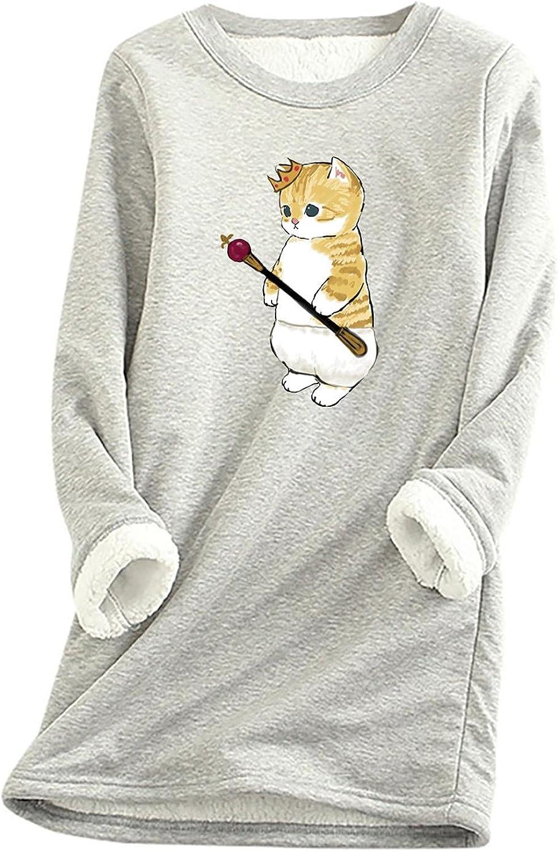 Aukbays Womens Fleece Pullover Sweatshirt,Women's Winter Velvet