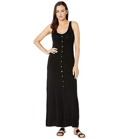Karen Kane Button Up Alana Maxi Dress (Black) Women