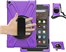 Fire HD 10 Tablet Case 2017 with Strap,TSQ Hybrid Drop Protection Durable Silicon Rugged Protective Case with 360 Degree R...
