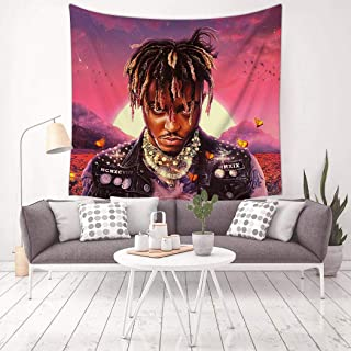 Laintock Juice Rap Wrld Legends Album Never Cover Die Tapestry 3D Wall Hanging Home Decor Blanket Room Decoration 59.1 X 59.1 Inch