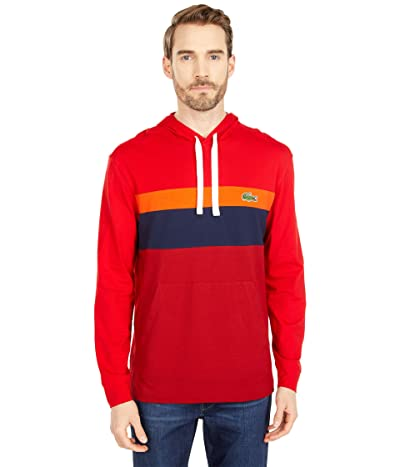 Lacoste Long Sleeve Color-Blocked Hooded T-Shirt Men