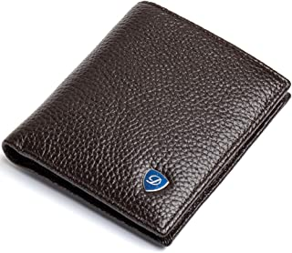 Small Bifold Wallets for Men Thin Genuine Leather Durable 10 years