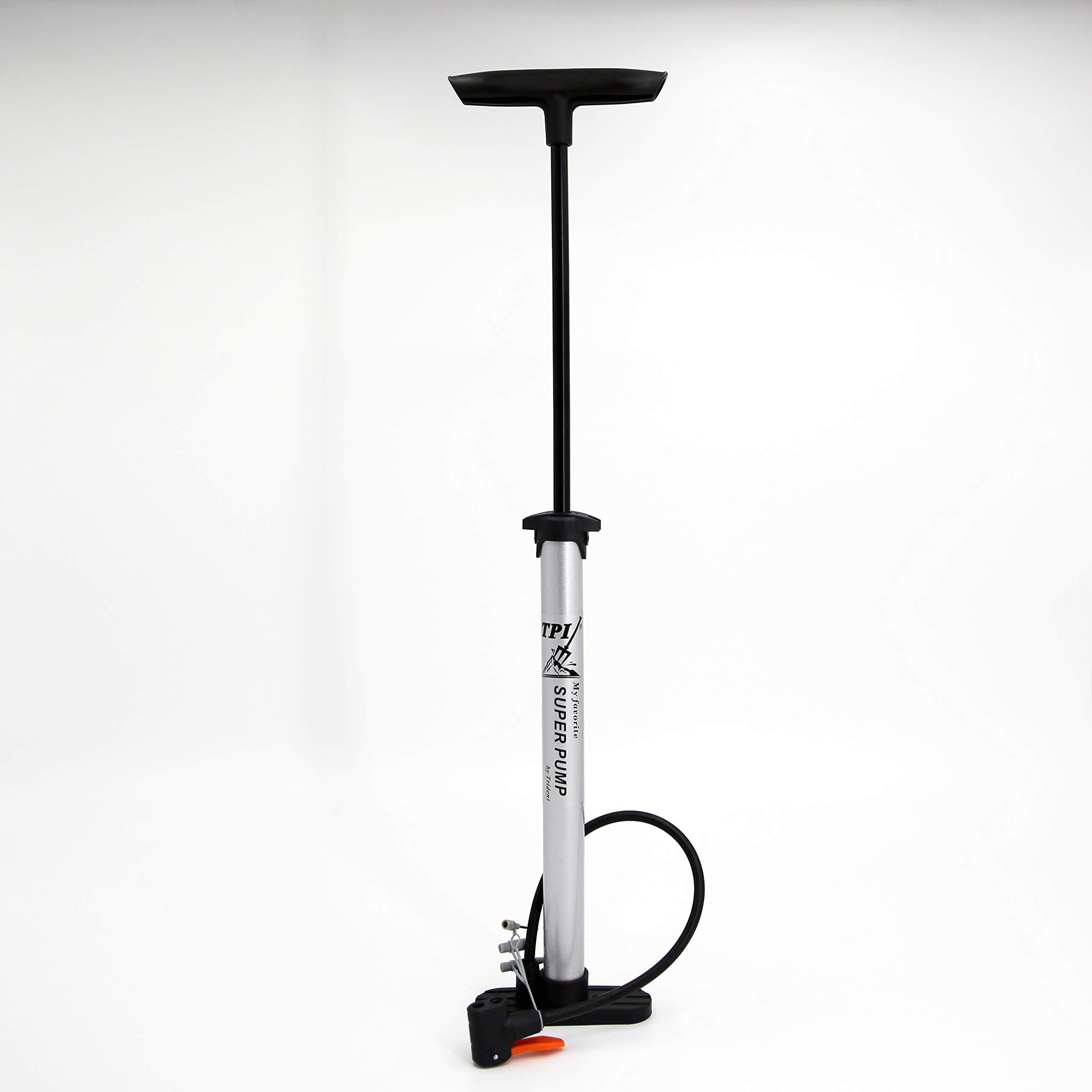 120PSI Bicycle Air Pump Portable Bike Floor Pump Presta /& Schrader Valves