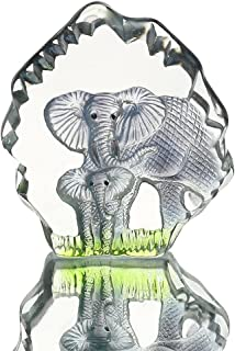Desconocido H&D - Figura Decorativa de Elefante de Cristal Grabado con láser, diseño de Animales coleccionables