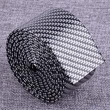 2m Car Carbon Fiber Texture Anti-kick Scrattch Door Sill Scuff Plate Threshold Step Protector Guard Cover Sticker Strip