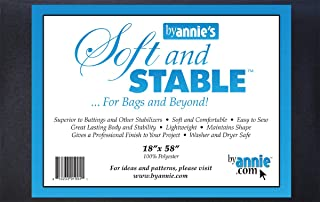 ByAnnie ByAnnie's Soft and Stable 18inX58in Black, 0338924, Polyester, Black, by The Yard