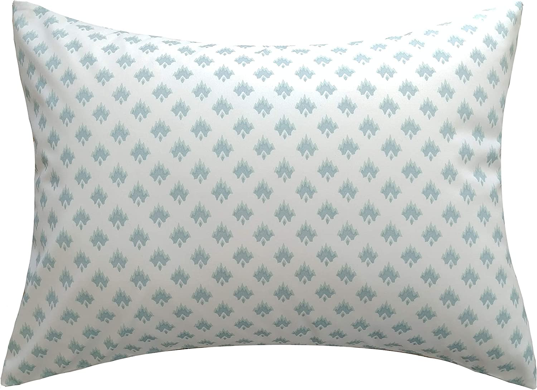 Ella Financial sales sale Max Toddler Pillow case. Aqua Soft and Cud White Print. Louisville-Jefferson County Mall