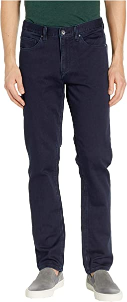 Slim Fit Stretch Five-Pocket Denim Pants in Dark Indigo