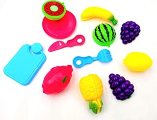 Negi Realistic Sliceable Fruits Cutting Play Toy Set, Can Be Cut in 2 Parts (Fruits May Vary) (Fruits Cutting)