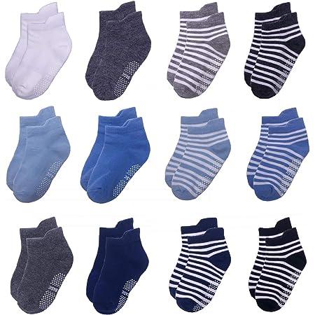 Hocaies Baby Socken ABS Socken Kinder Anti Rutsch Socken Baby Kn/öchelsocken Antirutschsocken Baby Anti-Rutsch Kleinkinder Babysocken f/ür Jungen M/ädchen Indoor Outdoor