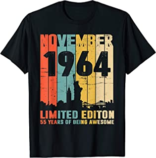 Vintage November 1964 Shirt Awesome 55th Birthday Gift Idea