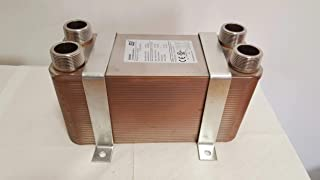 100 Plate Water to Water Brazed Plate Heat Exchanger 1 1/4