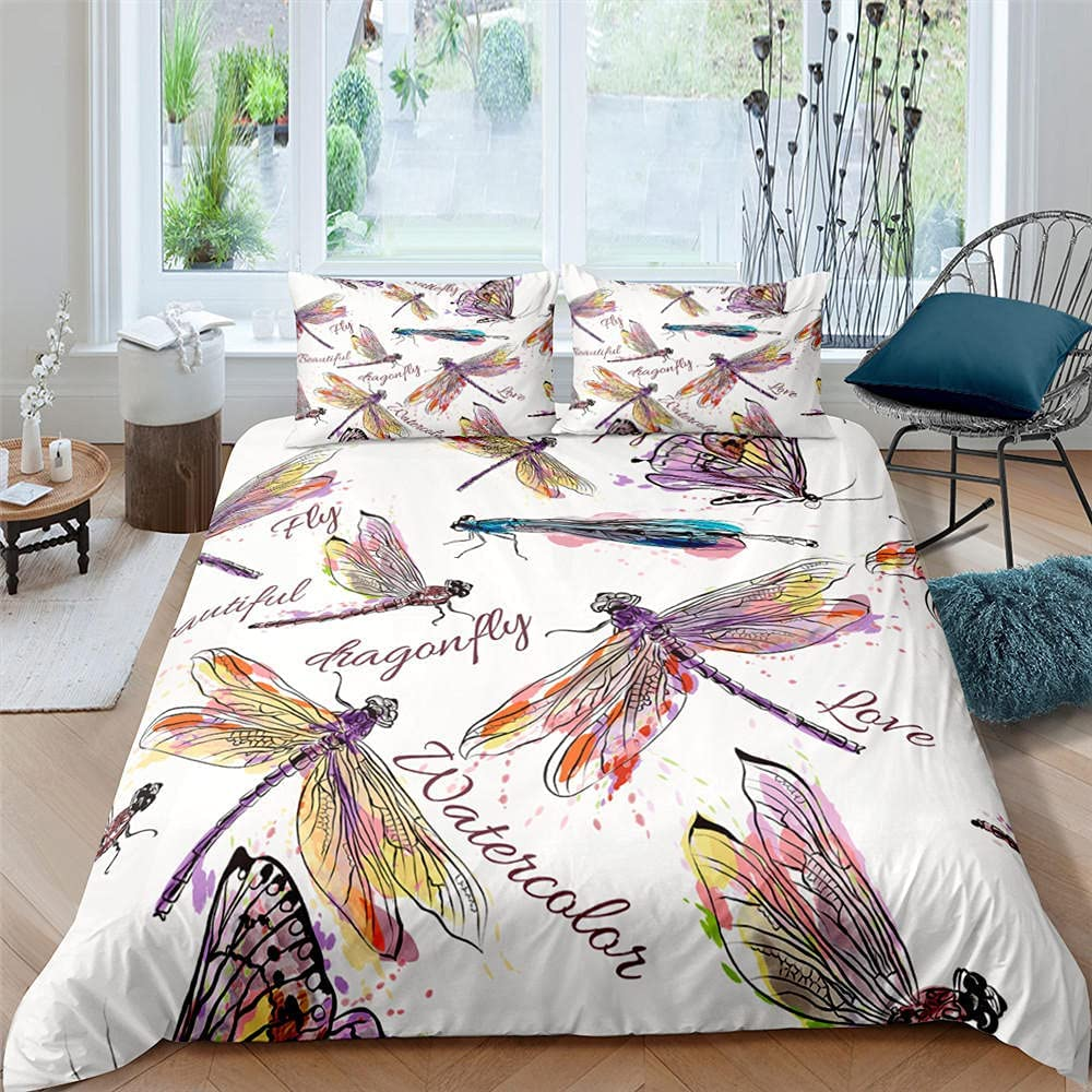 Duvet Luxury goods Covers Queen Size In a popularity Colored Dragonfly Comfy Quality Be Hotel