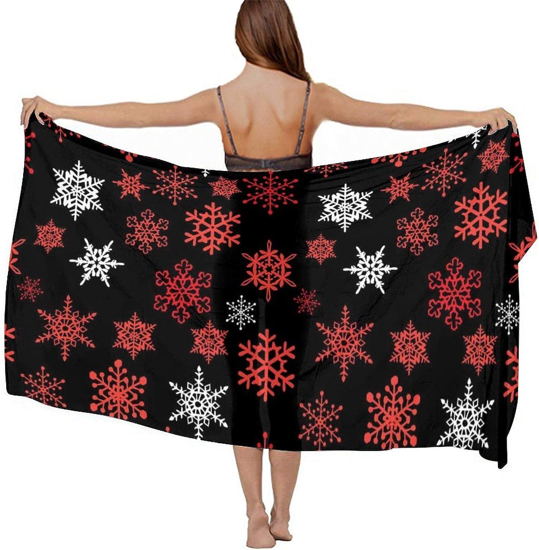 Women's Chiffon Beach Scarf Sunscreen Shawl Scarves Bikini Cover-Up Wrap Scarf Swimsuit