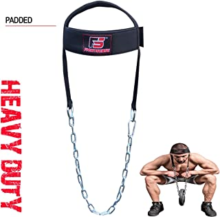 FIGHTSENSE Adjustable Head Neck Harness Training Exercise Gym Weight Lifting Strength Chain Long