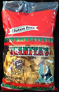 Juanita's Gluten Free TORTILLA CHIPS Fiesta Bag 24oz (4-pack)