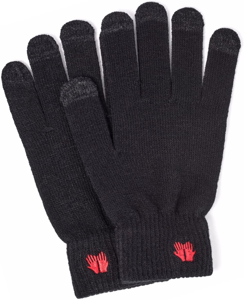 Warm Touch Screen Gloves - Soft Quality Material - Works on All Touchscreen Devices (Black)
