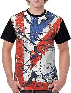 The Stone Roses Waterfall Men's Short Sleeve Round Neck Summer T-Shirt Black