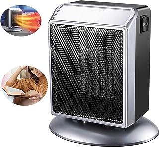 ZZYYZZ Calefactor de Aire Caliente Portatil, configuración de Potencia 400W / 900W, calefacción de cerámica, termostato Interior Ajustable, Oficina en casa,Silver