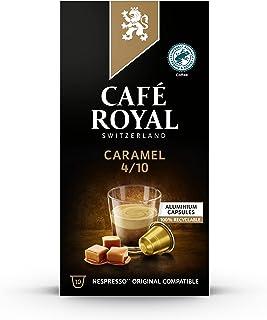 Café Royal Flavoured Edition Caramel 100 Capsules en Aluminium Compatibles avec le Système Nespresso (R)*; Intensité: 4/10...