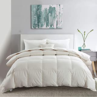 APSMILE Luxurious Siberian Goose Down Comforter -1200TC 100% Original Cotton -650FP Hypoallergenic Duvet Insert Queen - Li...
