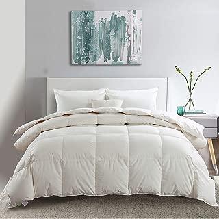 APSMILE Premium Siberian All Season Goose Down Duvet -Comforter Twin -100% Original Cotton Cover, 33 Oz Lightweight Hypoallergenic Duvet Insert(Twin - White)