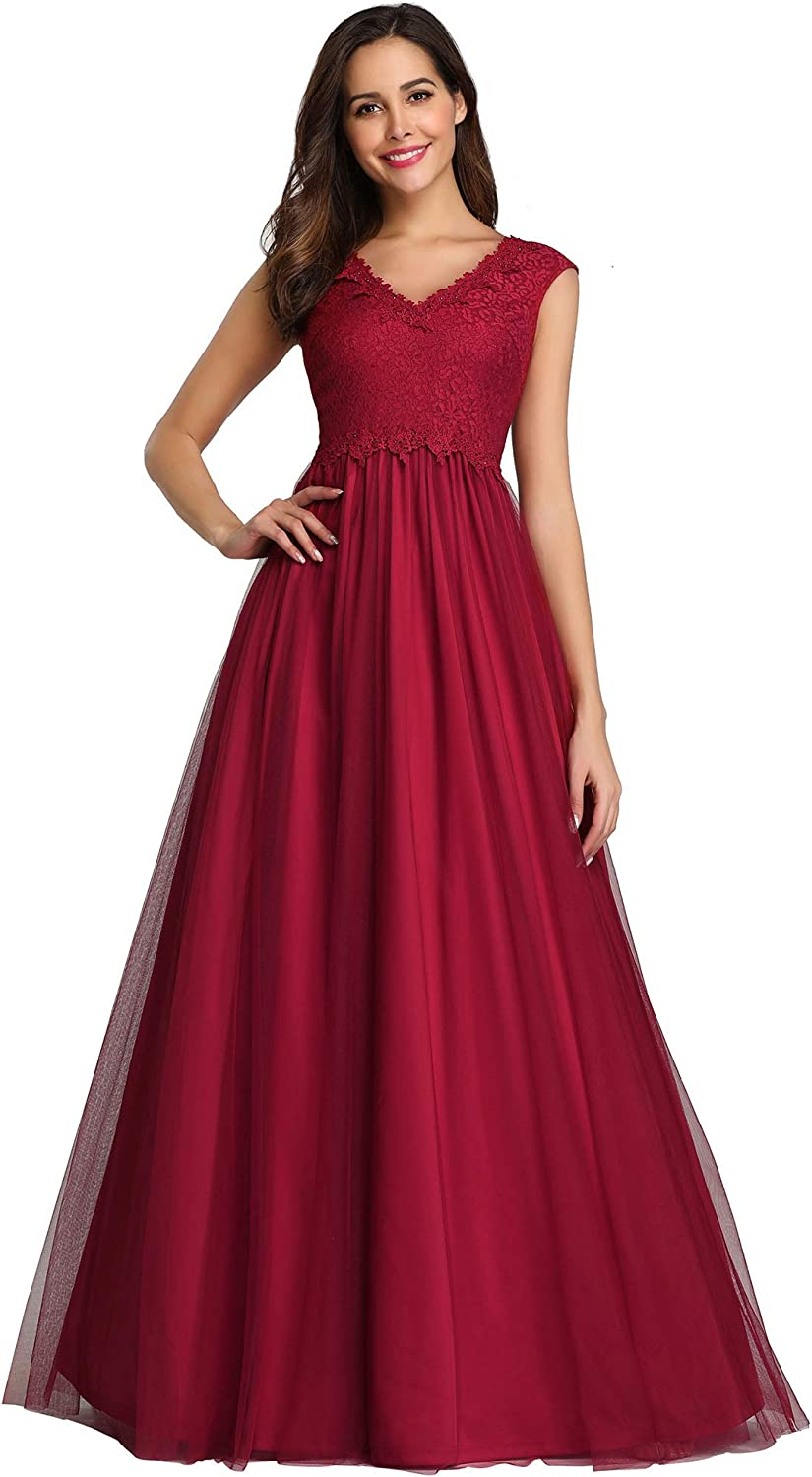 Ever-Pretty Women's A-Line Floral Lace Wedding Guest Dress Evening Gowns 7799