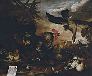 Oil painting 'March Miguel Milano atacando un gallinero Second half of 17 Century ' printing on Perfect effect canvas , 24 x 29 inch / 61 x 74 cm ,the best Kitchen artwork and Home gallery art and Gifts is this Art Decorative Canvas Prints
