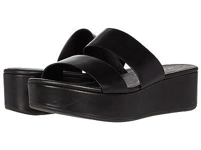 ECCO Plateau Slide Sandal (Black Cow Leather) Women