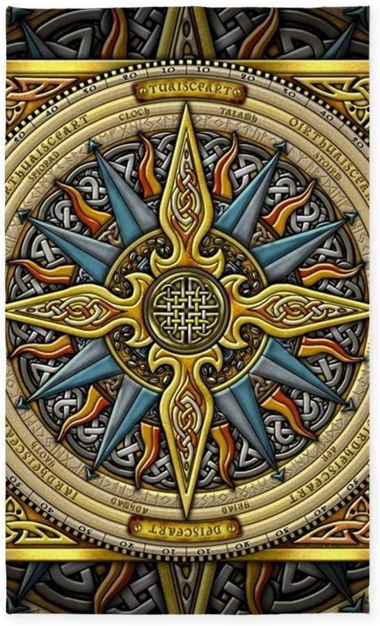CafePress Celtic Compass Save money 3'X5' Decorative Rug Area Fabric Throw Very popular