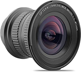 Opteka 15mm f/4 LD UNC AL 1:1 Macro Wide Angle Full Frame Lens for Nikon Digital SLR Cameras