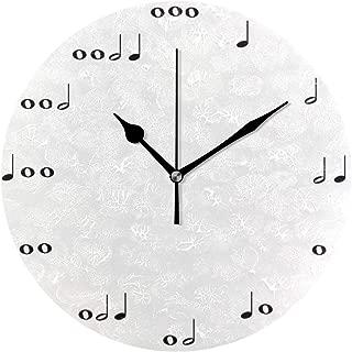 MIKA 音符 時計 クロック 壁掛け 掛け時計 かけ時計 壁掛け時計 インテリア 家具 おしゃれ オシャレ お洒落 デザイン 連続秒針